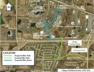 Hoffman Estates Bike Path Planning Map (Daily Herald)