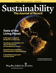 Sustainability journal cover 2013Aug