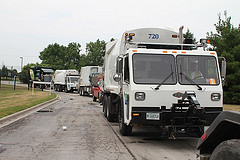 Garbage truck bound for the Glenview Transfer Station (source: Chicago Public Media)