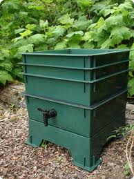 A commercially-available vermicomposting bin for home use