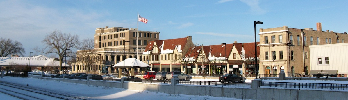 highland park downtown in winter 2