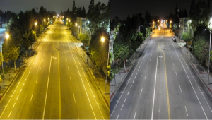 Street view of HPS lamp vs. LED lamp (source: nofilmschool.com)