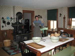 The farm kitchen at Volkening Heritage Farm, Schaumburg Park District (M. Bryson 2013)
