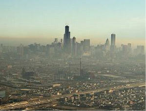 Smog over Chicago IL (photo: Storm Williams, ENN)