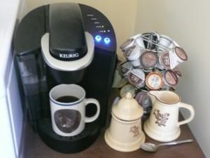 A Keurig coffee brewing machine, in action (photo: R.J. Huneke)